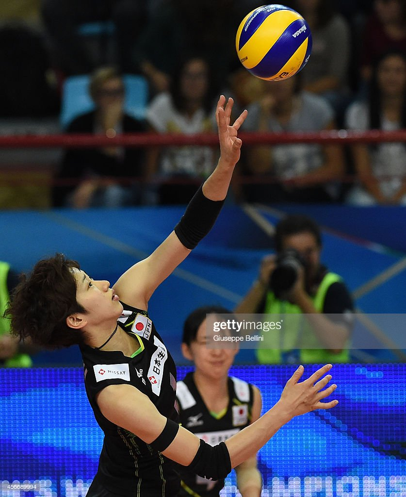 <a gi-track='captionPersonalityLinkClicked' href=/galleries/search?phrase=Miyu+Nagaoka&family=editorial&specificpeople=11310850 ng-click='$event.stopPropagation()'>Miyu Nagaoka</a> of Japan in action during the FIVB Women's World Championship pool E match between Dominican Republic and Japan on October 5, 2014 in Bari, Italy.
