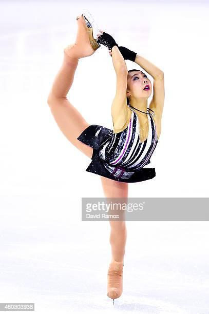 Miyu Nakashio of Japan performs during the Junior Ladies Short Program Final during day one of the ISU Grand Prix of Figure Skating Final 2014/2015...