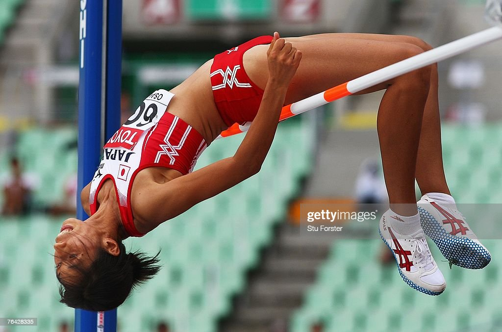 Miyuki Aoyama of Japan competes during the Women's High Jump Qualifications on day seven of the 11th IAAF World Athletics Championships on August 31, 2007 at the Nagai Stadium in Osaka, Japan.