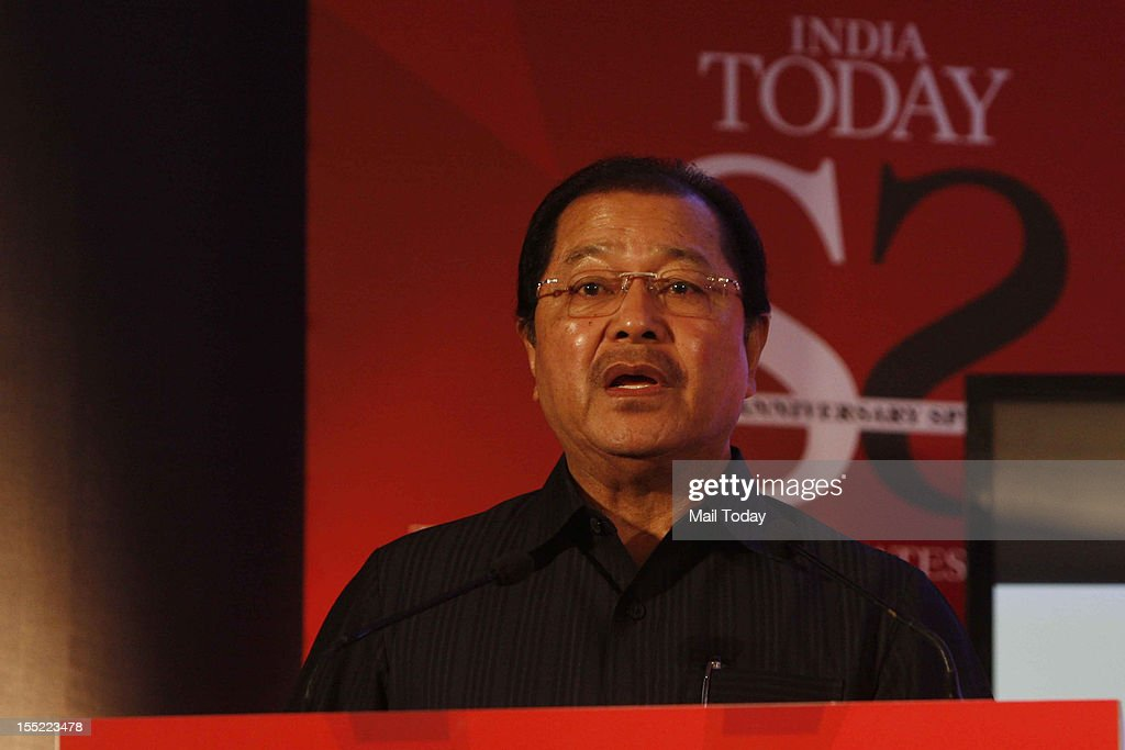 Mizoram CM Pu Lal Thanhawia at the India Today State of the States Conclave in New Delhi on Thursday, November 1, 2012.