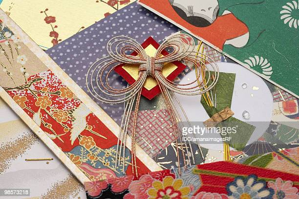 Mizuhiki and rice papers