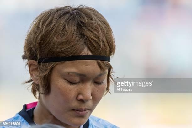 Mizuho Sakaguchi of Japanduring the friendly match between the women of The Netherlands and Japan at the Rat Verlegh stadium on June 9 2017 in Breda...