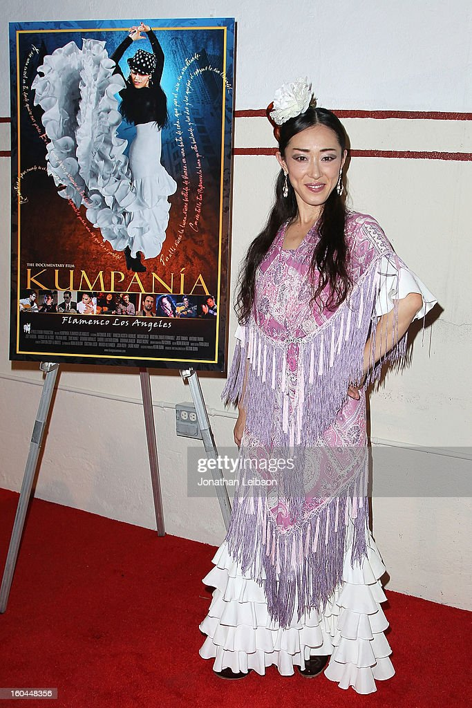 Mizuho Sato attends the 'Kumpania: Flamenco Los Angeles' - Los Angeles Premiere - Arrivals at El Cid on January 31, 2013 in Los Angeles, California.