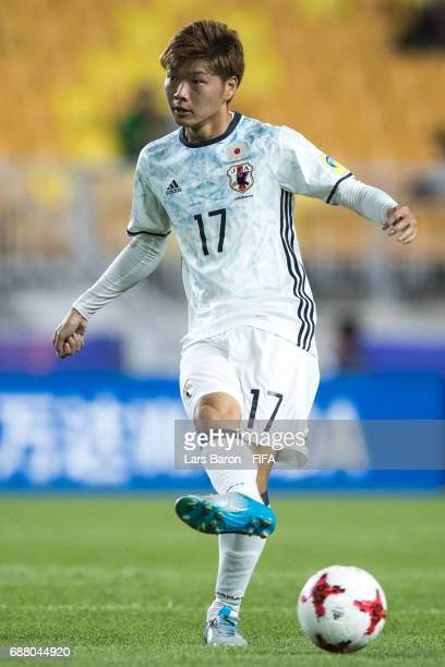 Mizuki Ichimaru of Japan runs with the ball during the FIFA U20 World Cup Korea Republic 2017 group D match between Uruguay and Japan at Suwon World...