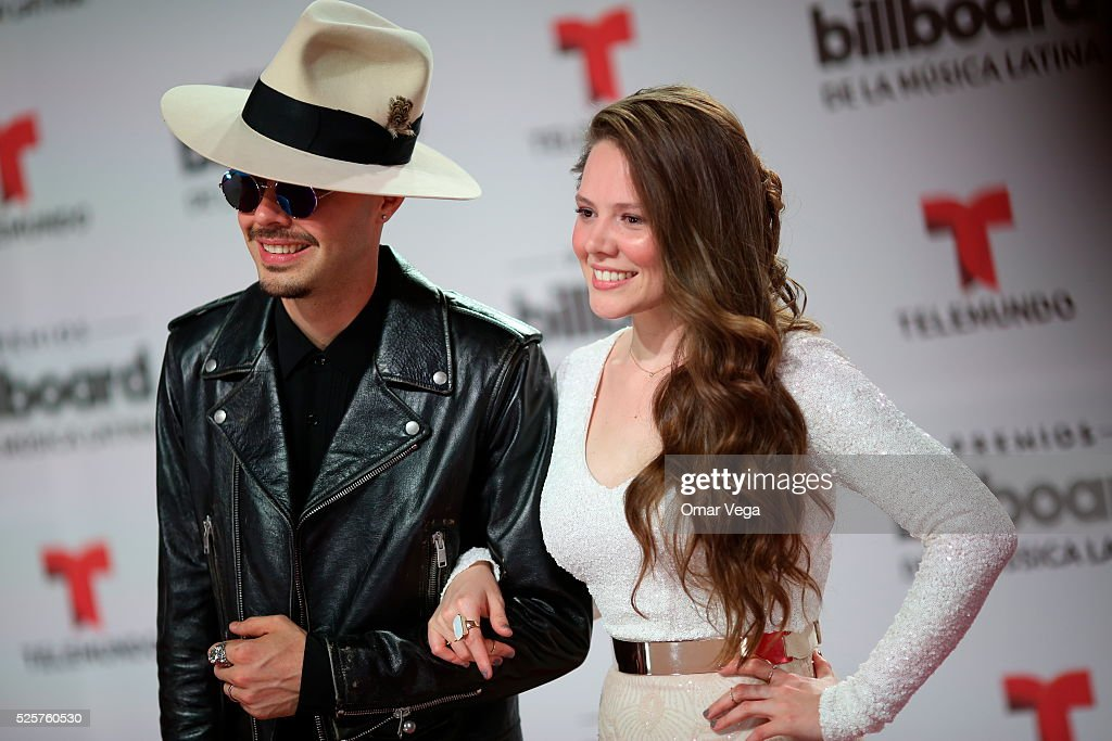 Members of the band <a gi-track='captionPersonalityLinkClicked' href=/galleries/search?phrase=Jesse+%26+Joy&family=editorial&specificpeople=4584067 ng-click='$event.stopPropagation()'>Jesse & Joy</a> pose during the red carpet of Billboard Latin Music Awards 2016 at Bank United Center on April 28, 2016 in Miami, United States.