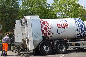 Müllwerker der aha in Hannover Zweckverband Abfallwirtschaft Region Hannover Entsorgungsunternehmen Entsorger