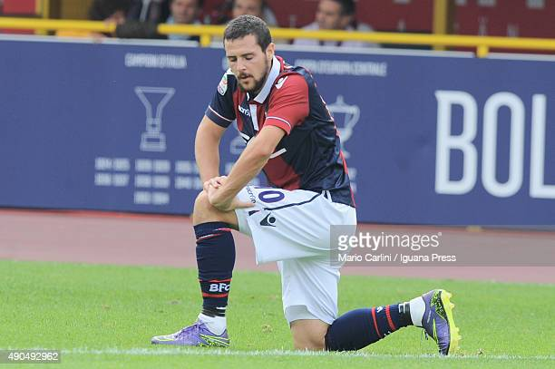 Mmattia Destro of Bologna FC looks on during the Serie A match between Bologna FC and Udinese Calcio at Stadio Renato Dall'Ara on September 27 2015...