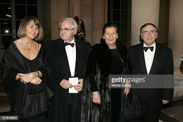 MMe Simone Weil Robert Pariente and Christine Albanel attend the 'Pasteur Weizman 30th Anniversary Party' at the castle of Versailles December 9 2004...