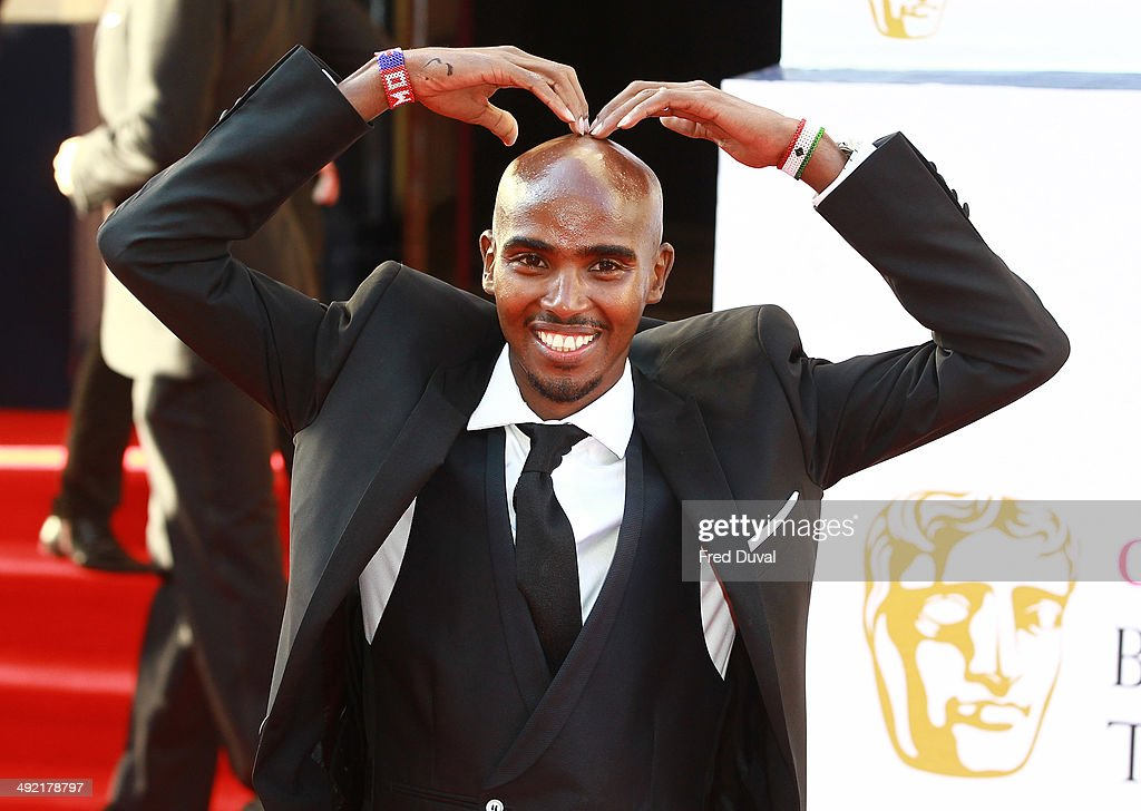 <a gi-track='captionPersonalityLinkClicked' href=/galleries/search?phrase=Mo+Farah&family=editorial&specificpeople=4819130 ng-click='$event.stopPropagation()'>Mo Farah</a> attends the Arqiva British Academy Television Awards at Theatre Royal on May 18, 2014 in London, England.