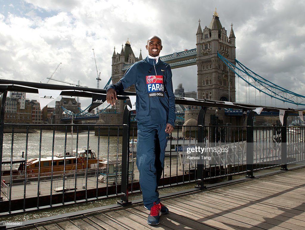 <a gi-track='captionPersonalityLinkClicked' href=/galleries/search?phrase=Mo+Farah&family=editorial&specificpeople=4819130 ng-click='$event.stopPropagation()'>Mo Farah</a> attends the British atheletes photocall ahead of The the London Marathon at The Tower Hotel on April 18, 2013 in London, England.