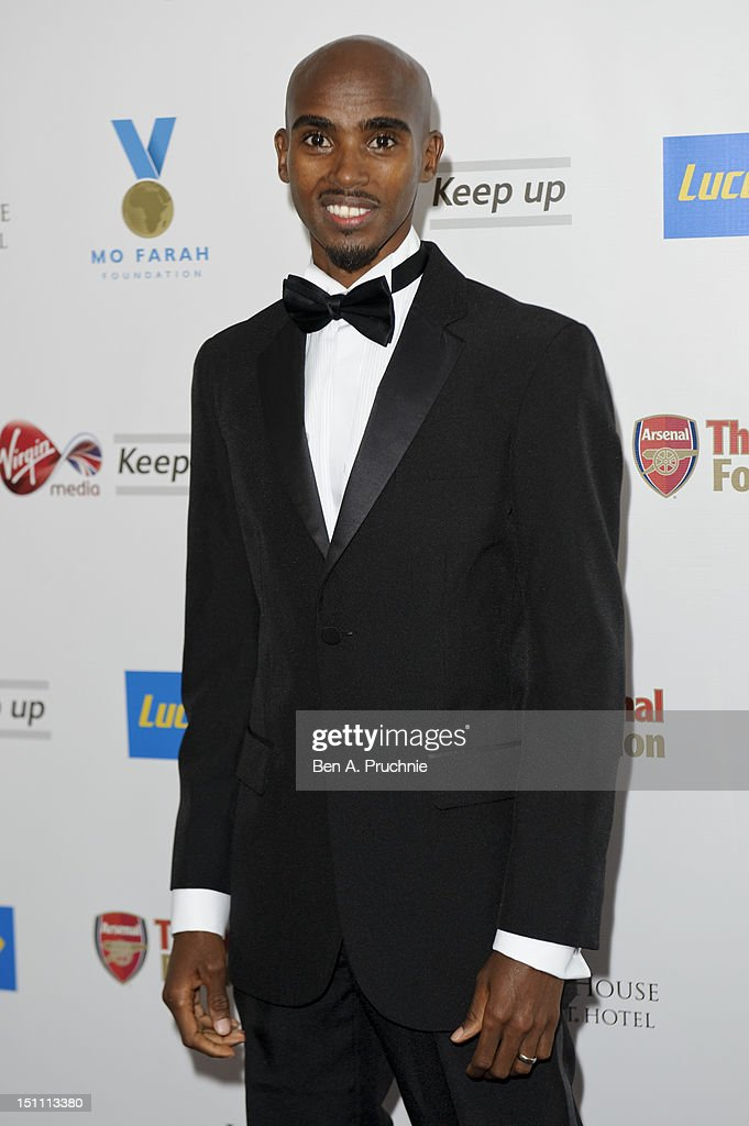 <a gi-track='captionPersonalityLinkClicked' href=/galleries/search?phrase=Mo+Farah&family=editorial&specificpeople=4819130 ng-click='$event.stopPropagation()'>Mo Farah</a> attends the Inaugural <a gi-track='captionPersonalityLinkClicked' href=/galleries/search?phrase=Mo+Farah&family=editorial&specificpeople=4819130 ng-click='$event.stopPropagation()'>Mo Farah</a> Foundation fundraising ball at Grosvenor House, on September 1, 2012 in London, England.