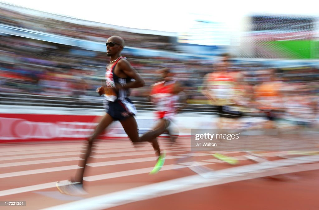 <a gi-track='captionPersonalityLinkClicked' href=/galleries/search?phrase=Mo+Farah&family=editorial&specificpeople=4819130 ng-click='$event.stopPropagation()'>Mo Farah</a> of Great Britain competes in the Men's 5000 Metre Final during day one of the 21st European Athletics Championships at the Olympic Stadium on June 27, 2012 in Helsinki, Finland.