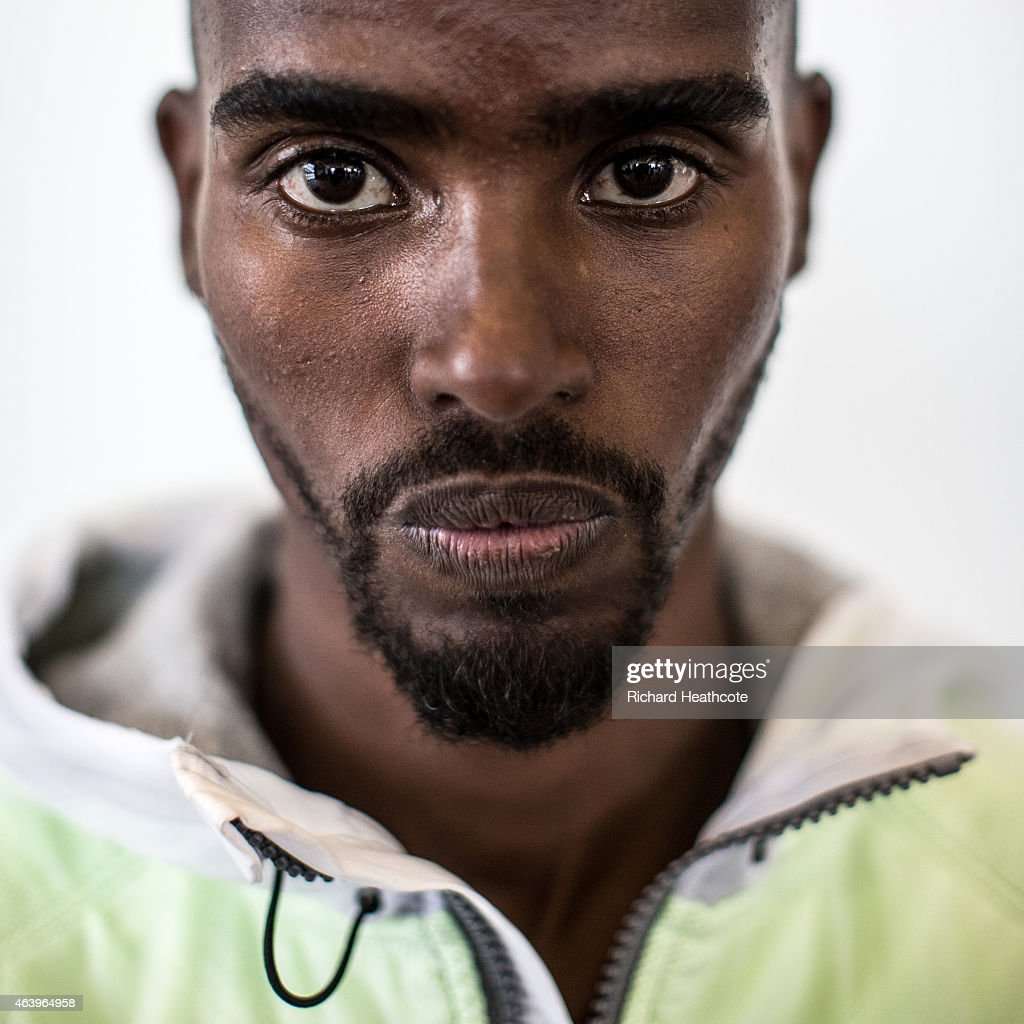 <a gi-track='captionPersonalityLinkClicked' href=/galleries/search?phrase=Mo+Farah&family=editorial&specificpeople=4819130 ng-click='$event.stopPropagation()'>Mo Farah</a> poses for a portrait during a media session at the Crowne Plaza Hotel on February 20, 2015 in Birmingham, England. The Sainsbury's Indoor Grand Prix will take place at the Barclaycard Arena in Birmingham on 21st February 2015.
