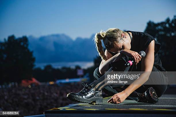Mo performs on the Orange stage during Roskilde Festival 2016 on July 2 2016 in Roskilde Denmark