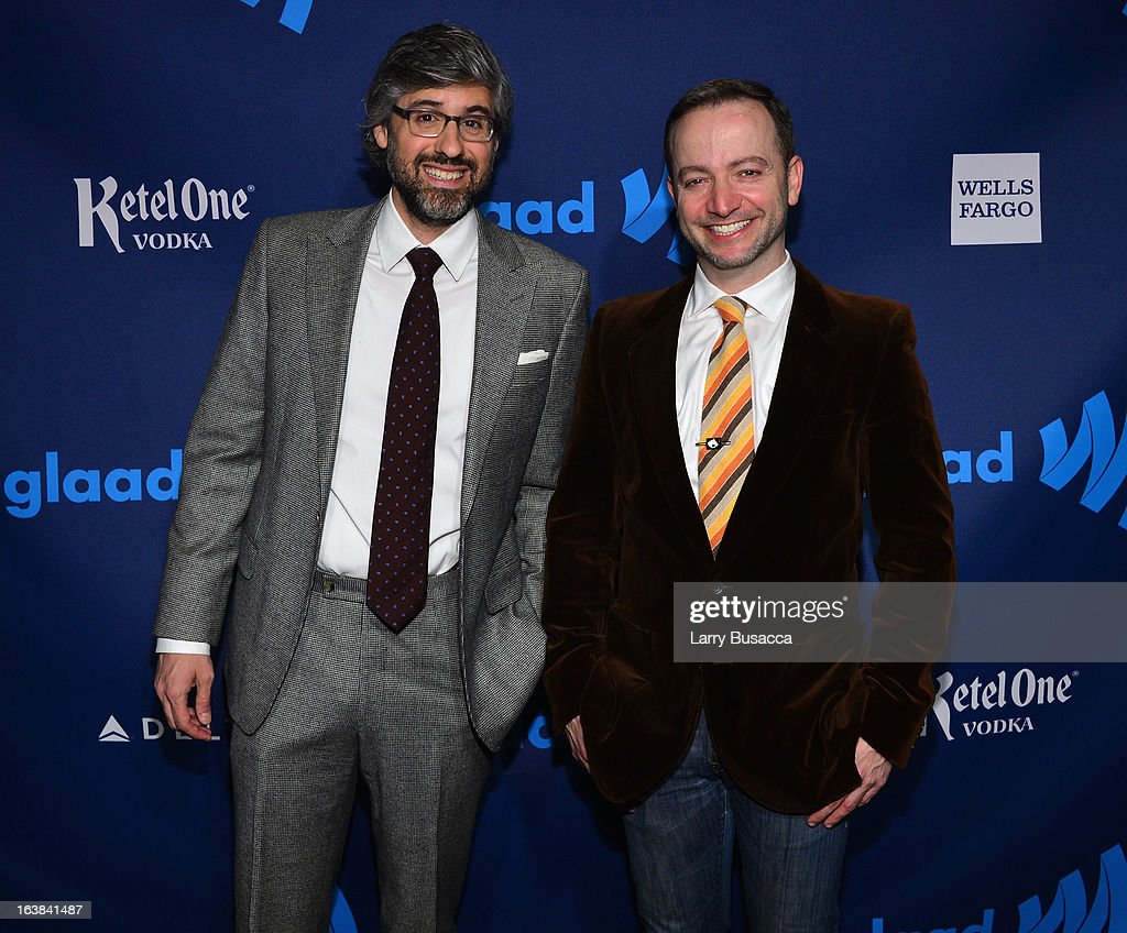 Mo Rocca and Mario Correa attend the 24th Annual GLAAD Media Awards on March 16 2013 in New York City