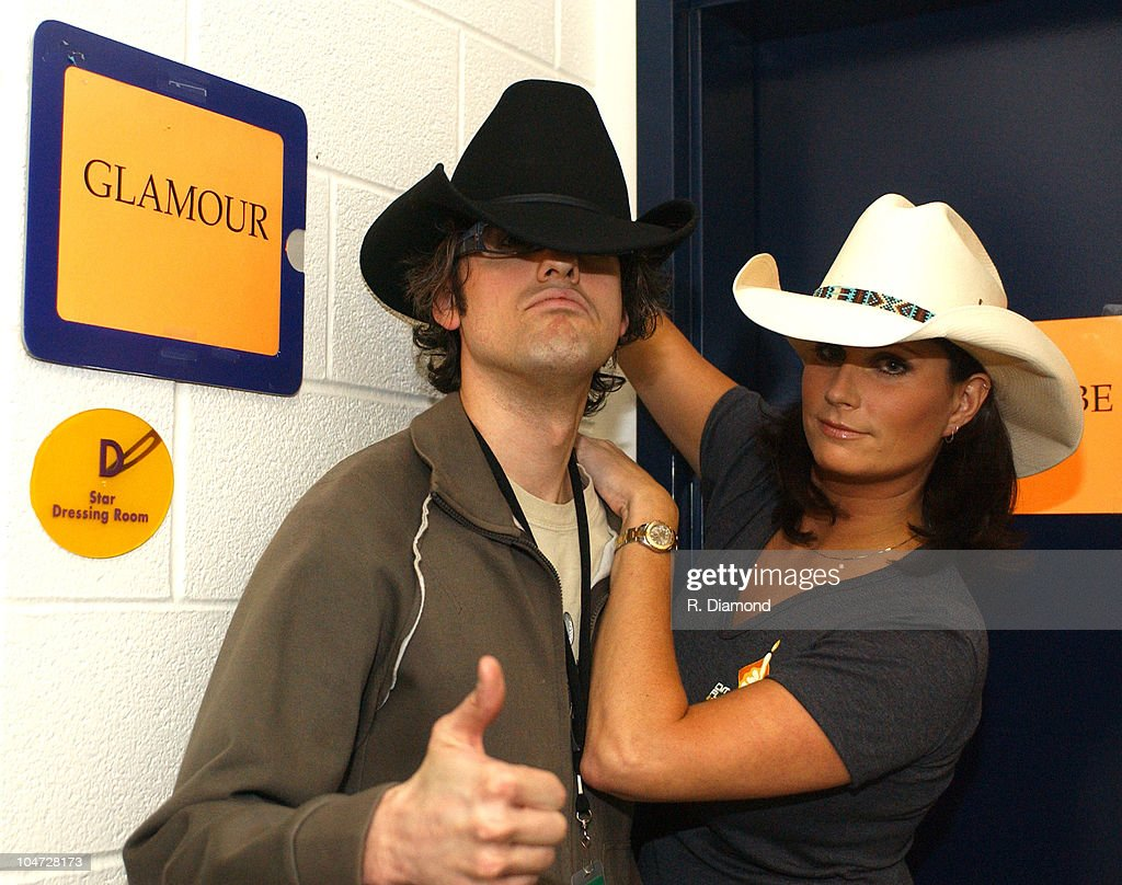 Mo Rocca and Terri Clark during 2003 CMT Flameworthy Awards Audience and Backstage at The Gaylord Center in Nashville Tennessee United States