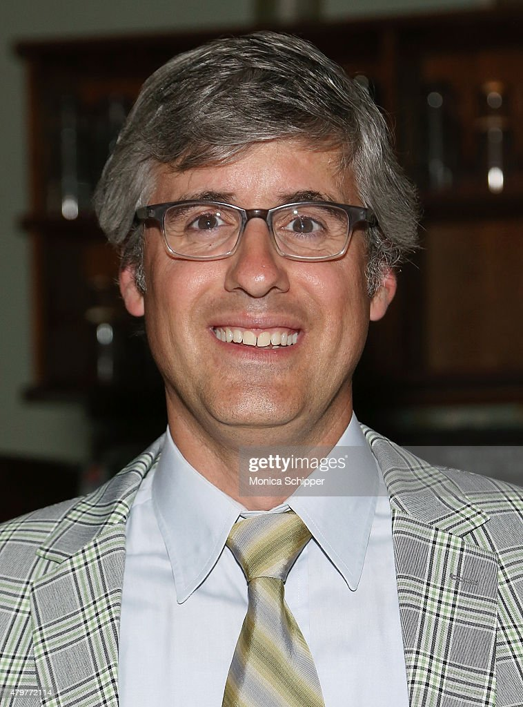 Mo Rocca attends the '25th Annual Putnam County Spelling Bee' 10th Anniversary Concert Reunion Reception at John's Pizzeria on July 6 2015 in New...