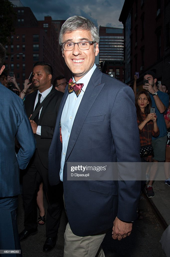 Mo Rocca is seen departing the final episode of 'The Daily Show with Jon Stewart' at The Daily Show Building on August 6 2015 in New York City