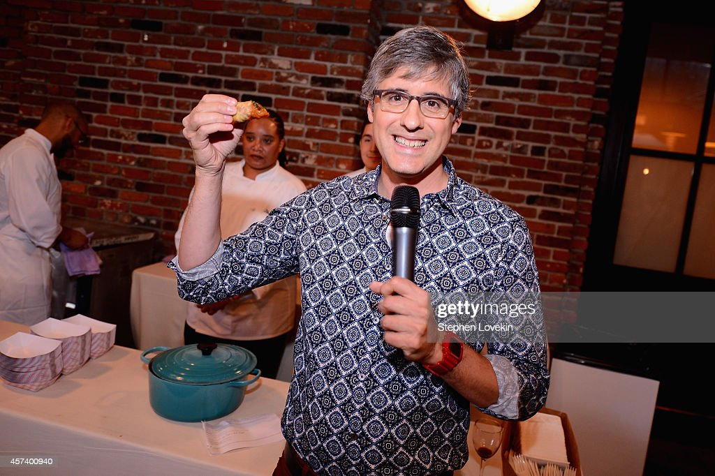 Mo Rocca speaks at Hot Dog Happy Hour with Mo Rocca during the Food Network New York City Wine Food Festival Presented By FOOD WINE at The Standard...