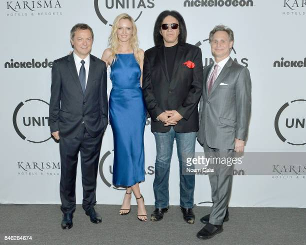 Mo Stojnovic Model Daria Strokous Jason Binn and Gene Simmons attend Unitas Third Annual Gala Against Human Trafficking at Capitale on September 12...