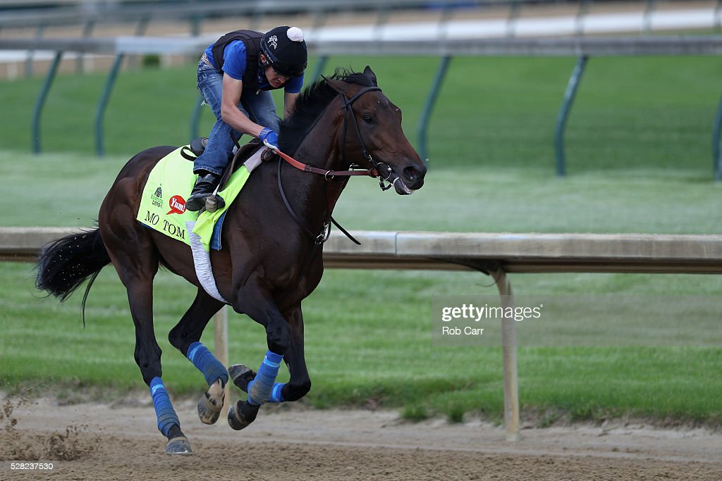 Mo Tom trains on the track for the Kentucky Derby at Churchill Downs on May 04, 2016 in Louisville, Kentucky.