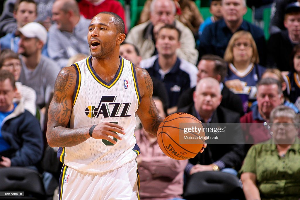 Mo Williams #5 of the Utah Jazz brings the ball up court against the Houston Rockets at Energy Solutions Arena on November 19, 2012 in Salt Lake City, Utah.