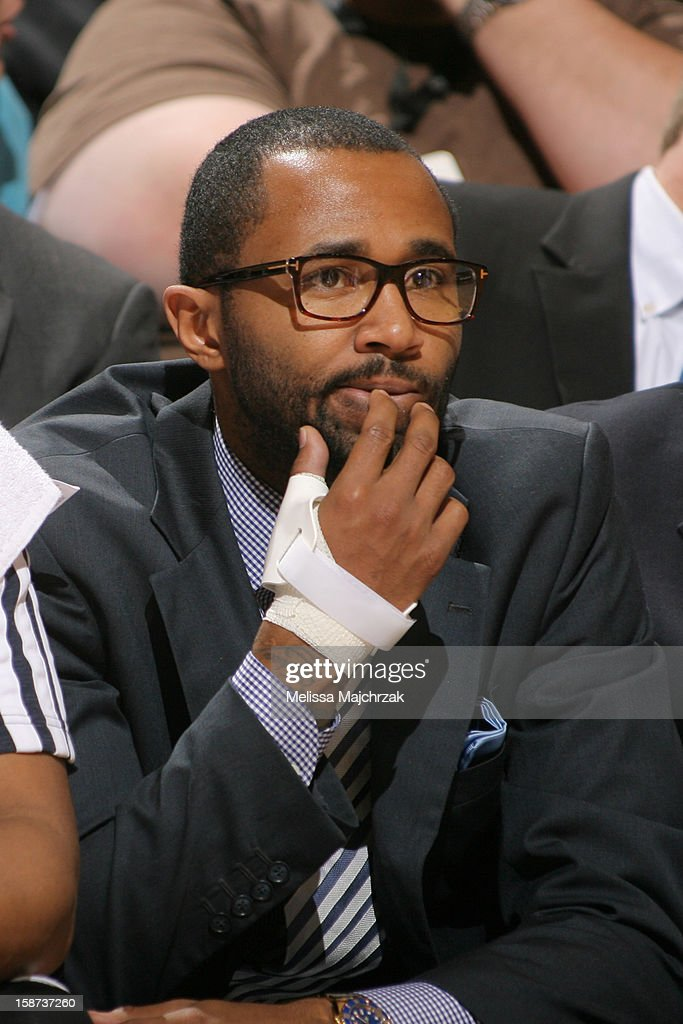 Mo Williams #5 of the Utah Jazz watches from the sidelines during play against the Golden State Warriors at Energy Solutions Arena on December 26, 2012 in Salt Lake City, Utah.
