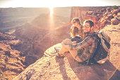 Moab Hiking Couple