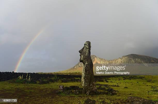 Moai and Rainbow