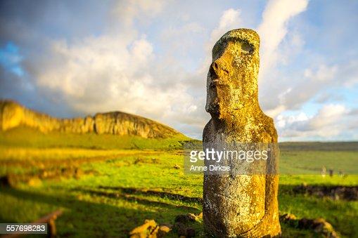 Moai at Sunrise, Easter Island