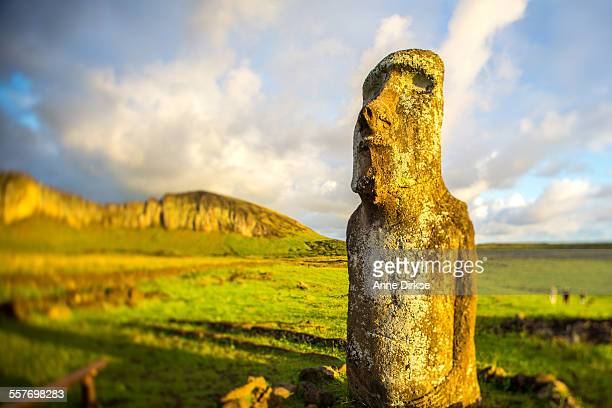 Moai at Sunrise, Easter Island
