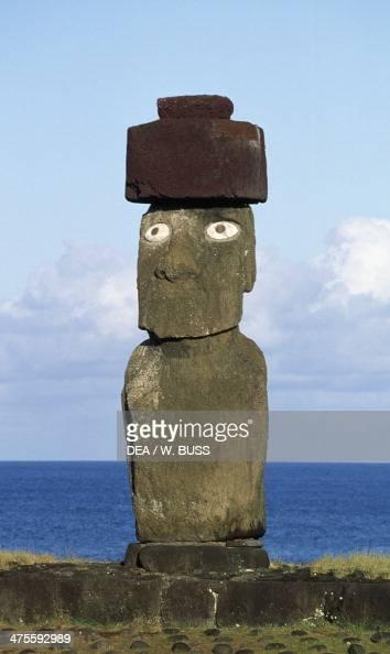 Moai of Ahu Ko Te Riku Rapa Nui National Park Easter Island Chile Polynesian Civilisation
