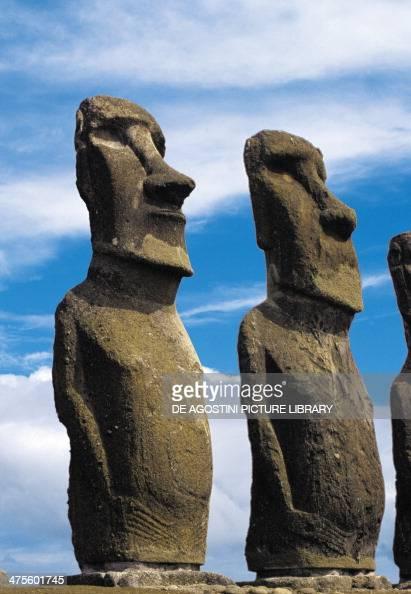 Moai of Ahu Tongariki Rapa Nui National Park Easter Island Chile Polynesian Civilisation
