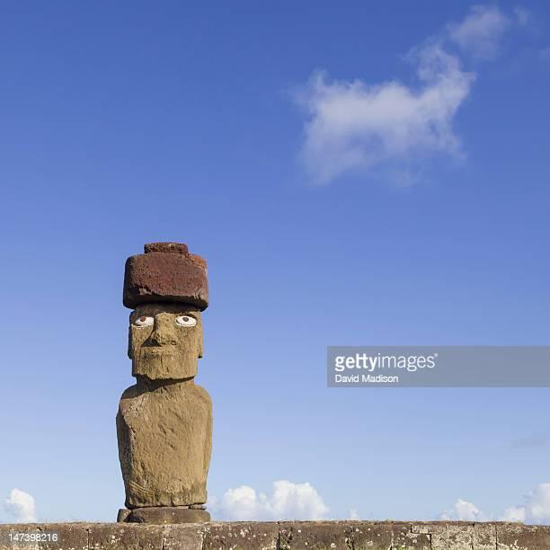 Moai statue Ahu Ko Te Riku on Easter Island.