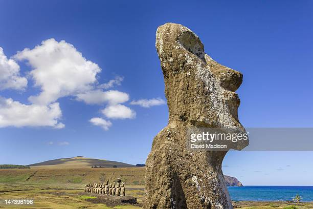 Moai statues at Tongariki, Easter Island.