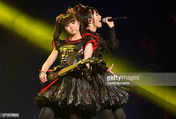 Moametal and Sumetal of Babymetal perform during the Alternative Press Music Awards 2016 at Jerome Schottenstein Center on July 18 2016 in Columbus...