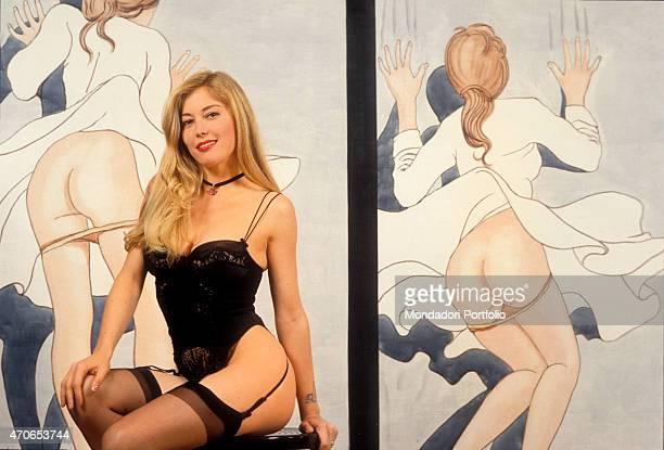 Moana pozzi foto e immagini stock getty images - Diva futura in tv ...