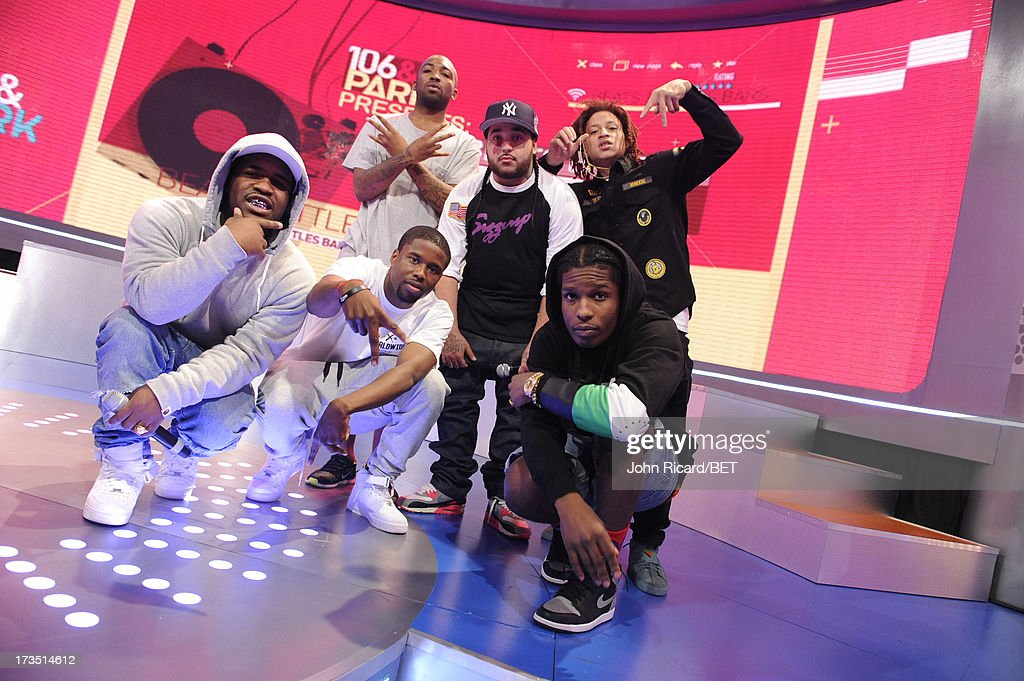 Mob at BET's 106 & Park at BET Studios on July 15, 2013 in New York City.
