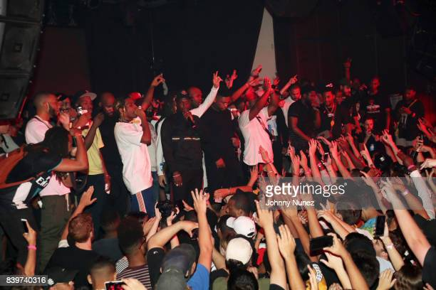 Mob performs during the ASAP Mob Album Release Show at Highline Ballroom on August 24 2017 in New York City