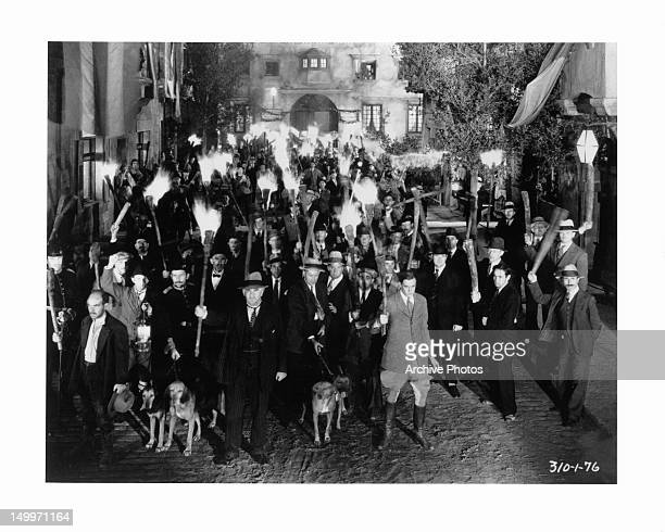Mob scene from the film 'Frankenstein' 1931