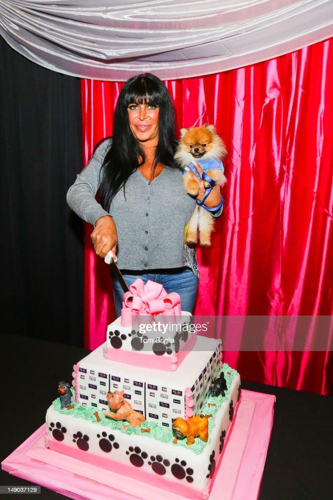 Mob Wives reality star 'Big Ang' Raiola hosts a Doggie Social at the Mansion Cafe Showboat Atlantic City NJ on Saturday July 212012
