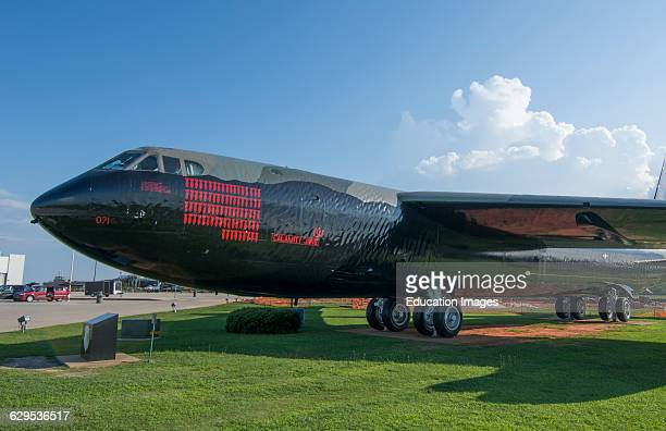 Mobile Alabama famous B52 bomber Stratofortress Calamity Jane plane at Battleship Memorial Park with bombing decals for Vietnam War bombs