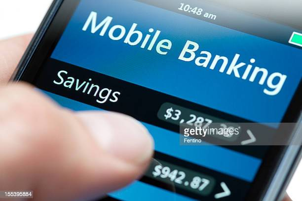 Mobile Banking on Smartphone Close-up - Dollar