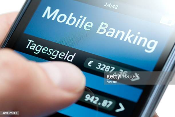 Mobile Banking on Smartphone Close-up - Tagesgeld