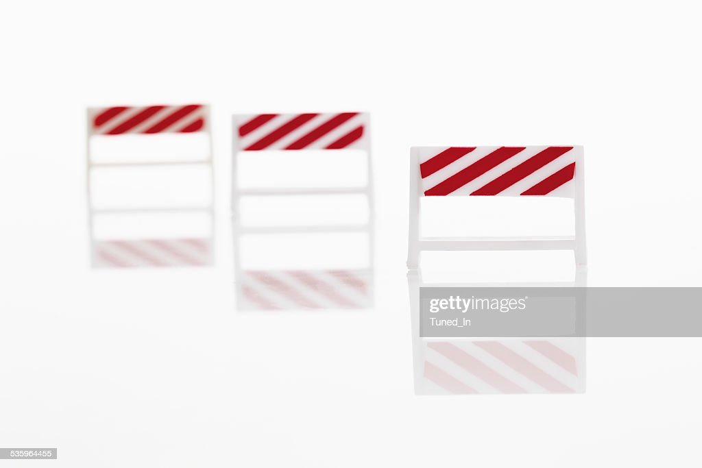 Mobile barrier on white background : Stock Photo