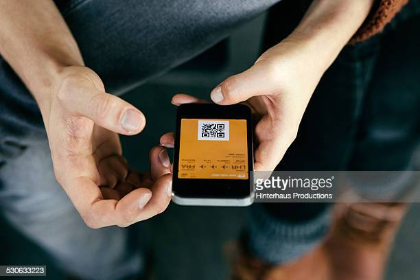 Mobile Boarding Pass On Smart Phone