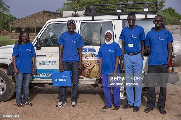 A mobile clinical outreach team from Marie Stopes International a specialized sexual reproductive health and family planning organization on a site...