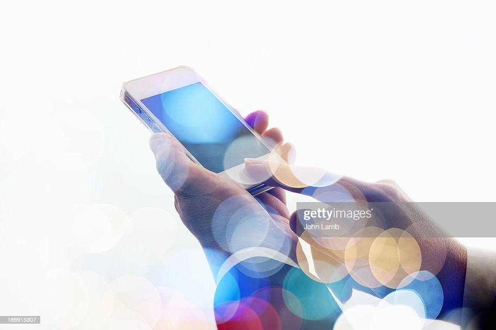 Mobile cloud : Stock Photo