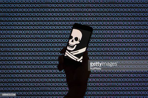 Mobile devices can make people vulnerable to online piracy through privacy settings Bydgoszcz Poland on August 7 2016