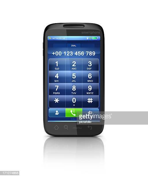 mobilen Dialpad-Schnittstelle